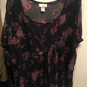 Floral top junior plus